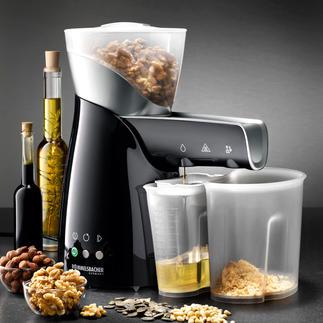 Elektrische oliepers Perst zaden, noten en pitten puur mechanisch. Zonder toepassing van warmte.