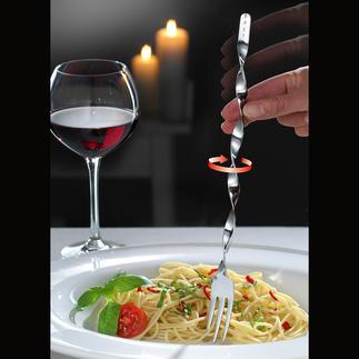 Spaghetti-spiraalvork, set van 2 Met de spiraalvork wordt het opdraaien van spaghetti kinderspel.