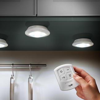 Draadloze led-verlichting, 3-delig Draadloze led-verlichting, te gebruiken waar en hoe u maar wilt.