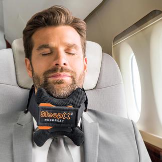 SleepX® hoofdsteun voor op reis Knelt niet en ontlast effectief halswervels en nek.