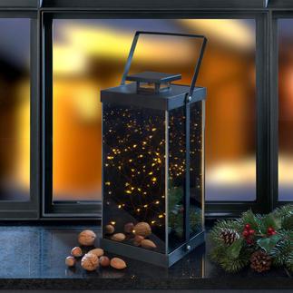 Lantaarn met fonkelende sterren Micro-leds aan de binnenkant zorgen voor een fascinerende zee aan lichtjes.