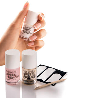 visett® Speed French-manicure-set De perfecte French manicure in slechts 10 minuten.