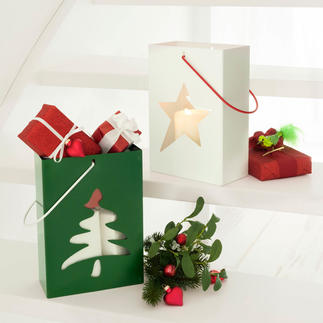 Cadeautas/windlicht Windlicht, verpakking en mooi cadeau in één.
