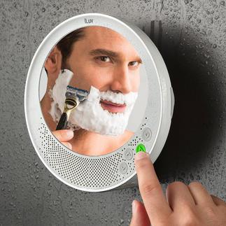 Antifog-Bluetooth-spiegel Condensvrije douche- en badkamerspiegel, Bluetooth-luidspreker en handsfree-functie.
