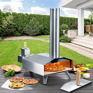 Compacte pizza-houtoven Voor een steenovenpizza zoals u die bij de Italiaan eet.