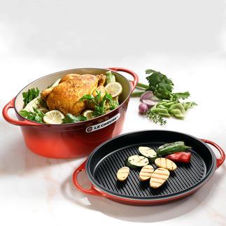 Le Creuset gietijzeren braad-/grillpan Topkwaliteit van Le Creuset, Frankrijk.