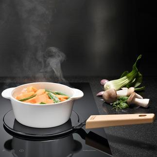 2-in-1-adapterplaat Maakt al uw veelgebruikte pannen geschikt voor inductie en houdt uw gerechten warm op tafel.