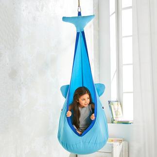 Hangende speelstoel Walvis Perfect om in te spelen, weg te dromen, leren, ontspannen, schommelen, ...