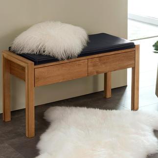 Eiken zitbank De zitbank van echt eikenhout: nu nog moderner en eleganter.
