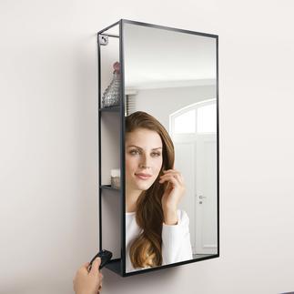 Rek met spiegel Cubiko Slim verwerkt: spiegel met verborgen opbergruimte.