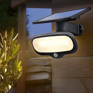 Solar-veiligheidslamp van 500 lumen Feller dan een lamp van 40 W – en hij verbruikt helemaal geen energie.