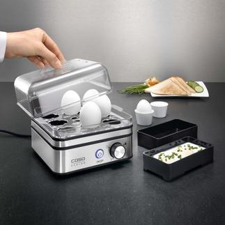 Elektronische eierkoker Voor het koken van max. 8 eieren, precies zoals u wenst.