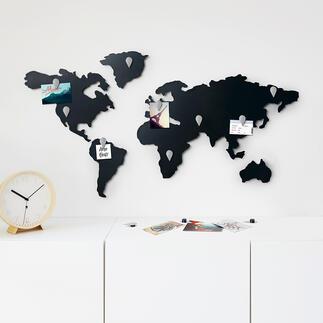 Magnetische wereldkaart Voor wereldreizigers en multinationals.