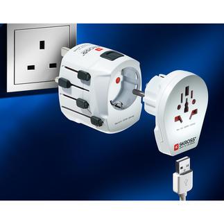 SKROSS® wereldadapter PRO World & USB Een van de krachtigste en meest veelzijdige reisadapters ter wereld.