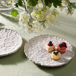 Hortensiabord, set van 2 Met de hand gemaakte bloemenzee.