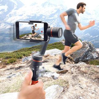 Rollei smartphone-gimbal Eindelijk: onbewogen smartphone-video's – gefilmd uit de hand.