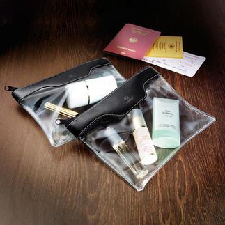 Handbagagetoilettas, set van 2 Ideaal als handbagage, voor cosmetica, verzorgingsartikelen, …