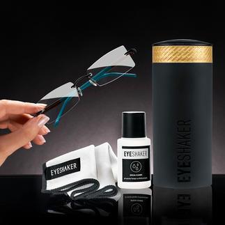 Eyeshaker brillenreinigingsset Geniale innovatie: de 'Eye Shaker' – reinigt uw bril in een handomdraai.