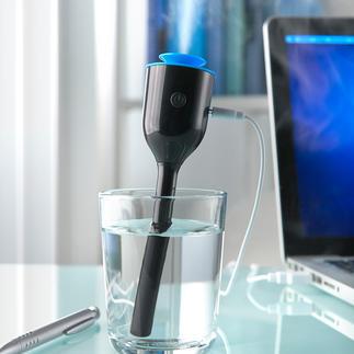 Compacte luchtbevochtiger Praktische luchtbevochtiger om mee te nemen. Ook handig op uw bureau, op uw nachtkastje en in de kinderkamer.