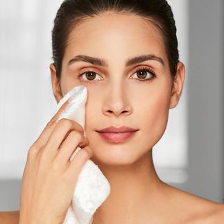 Make-updoekje van cellulosevezels Verwijdert uw make-up alleen met water, zonder chemische middelen.