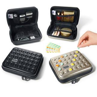Dot-Drops® ultralichte case De stijlvolle manier om uw make-up, medicijnen of oplaadbare apparaten veilig op te bergen.