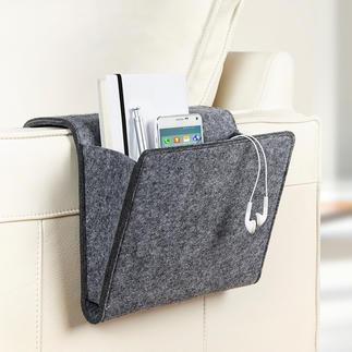 Bank- en bedtas Voor alles dat u snel bij de hand moet hebben.