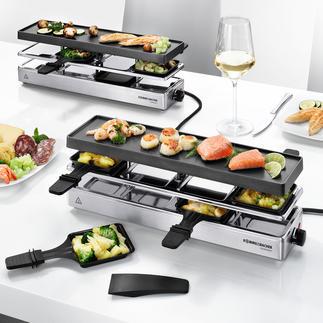 Combi-gourmetstel Eindelijk een gourmetstel dat ook geschikt is voor grotere gezelschappen (tot 12 personen).
