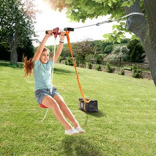 30 meter lange kabelbaan Outdoor-fun in uw eigen tuin.