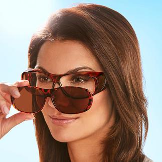 3-in-1-overzetbril Praktische overzetbril met magnetische glazen.