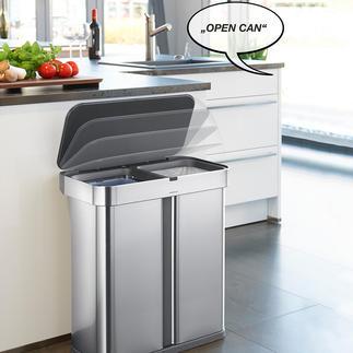 SmartCan afvalbak met sensoren Slimme afvalbak die opengaat op commando.