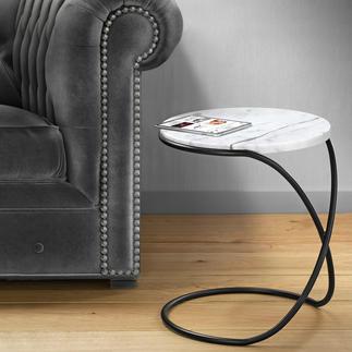 Marmeren tafel Infinity Veelzijdige bijzettafel met een trendy blad van marmer – elegant als een sculptuur.