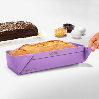 Uitvouwbare bakvorm van silicone Hoeft niet omgekeerd te worden, plakt niet aan het baksel vast en neem weinig plek in wanneer u hem opbergt.