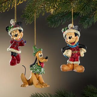 Disney Traditional kerstfiguren Kerst met Mickey, Minnie en Pluto.