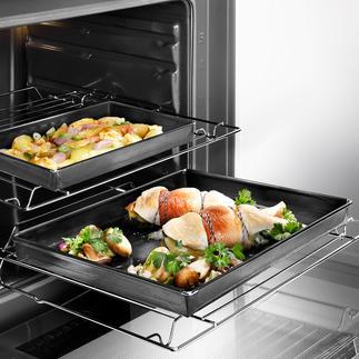 Oven- en barbecueschaal Bakplaat van met glasvezel versterkte kunststof voorzien van tefloncoating.