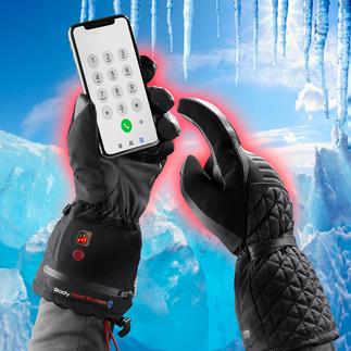 Verwarmbare winterhandschoenen Winterhandschoenen 4.0: warm, waterdicht en geschikt om een touchscreen mee te bedienen. Met de accu te verwarmen.