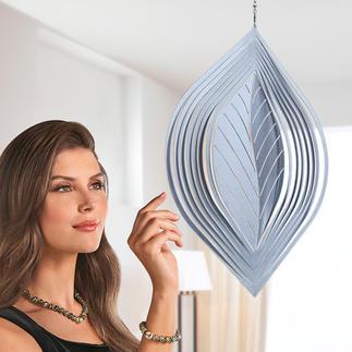 Windspel in de vorm van een blad Waarschijnlijk de mooiste manier om te ontspannen. 100% outdoorproof.
