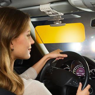 2-in-1 verblindingsbescherming Voor een niet-verblindend, scherp zicht in de auto. In elk jaargetijde en bij alle weers- en lichtomstandigheden.