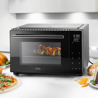 Bistro-oven met draaispit 32 l De bistro-oven met draaispit en 32 l-gaarruimte. Voor een uitstekende prijs.
