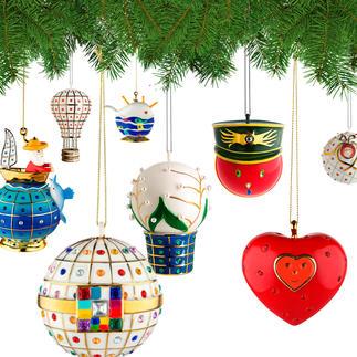 Alessi decoratieve ballen Faberjori Kunstig met de hand gedecoreerde porseleinen ballen.