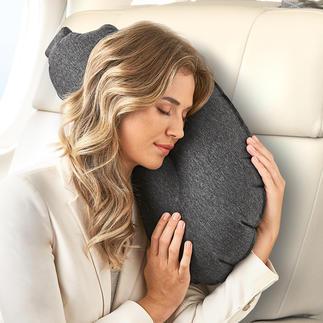 Aubergine pillow Het opblaasbare kussen: De perfecte combinatie van een nek-, hoofd-, knuffel- en rugkussen.