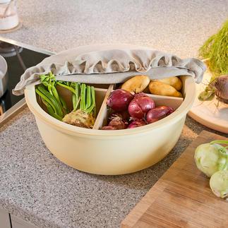 Keramieken voorraadschaal CeraNatur® Beschermd tegen licht en goed geventileerd kunt u uw aardappelen, knoflook, appels etc. perfect bewaren.