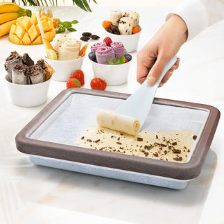Rolled Ice-koelvorm De food-trend van deze zomer: zachte ijsrolletjes – en u maakt ze heel gemakkelijk zelf.