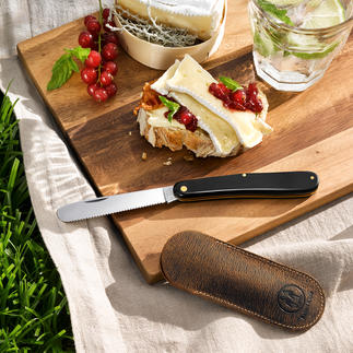 Zak-fruit-/broodjesmes Perfect om altijd bij je te hebben. Traditioneel handwerk.
