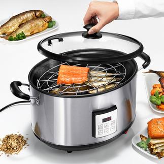 Elektrische rookpan Rookt warm en koud, met elektronische precisie. Voor indoor en outdoor.