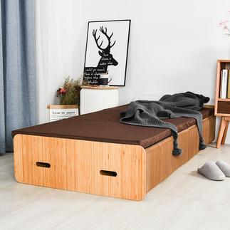 Paper bed Het uittrekbare paperbed met harmonicaconstructie.