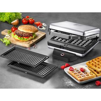 WMF Lono Snack Master Met dit slimme apparaat kunt u zowel wafels, pancakes, donuts als muffins bakken.