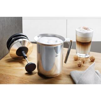 Gefu® melkopschuimer met dubbele zeef Voor perfect melkschuim in minder dan 60 seconden.