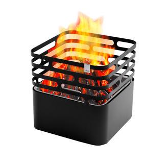 Cube vuurkorf De vuurkorf met een geniale twist: zet hem gewoon op z'n kop en het vuur dooft vanzelf.