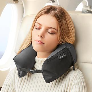 3-in-1 Travel Pillow Geniaal veelzijdig. Nekkussen, comfort-hoofdkussen en extra kussenlaag ineen.