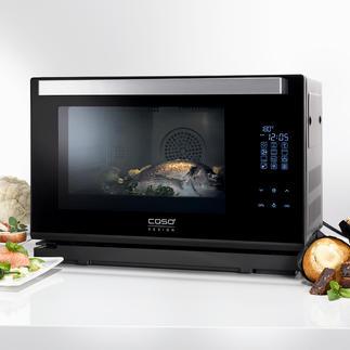 Caso stoomoven Steam Chef Heteluchtoven, stoomoven en grill in één compact apparaat. Van Caso.